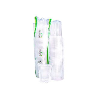 Nuplas Plastic Cup Clear - 6oz - 1000pc