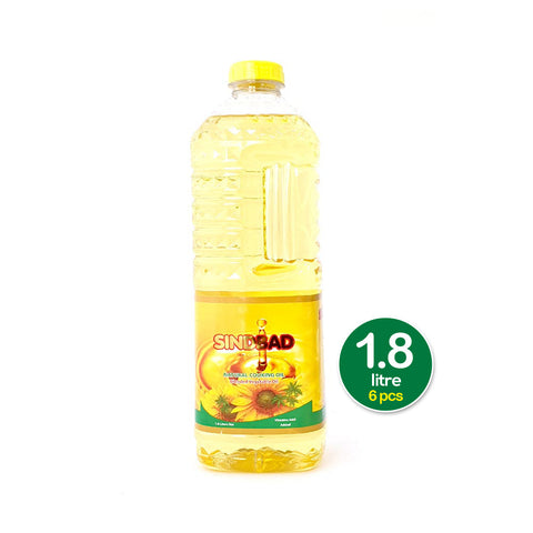 Sindbad Natural Cooking oil - 1.8 Ltr * 6 Pcs