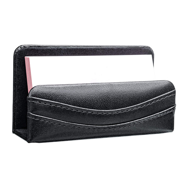 Classic Black Leather Business Card Holder