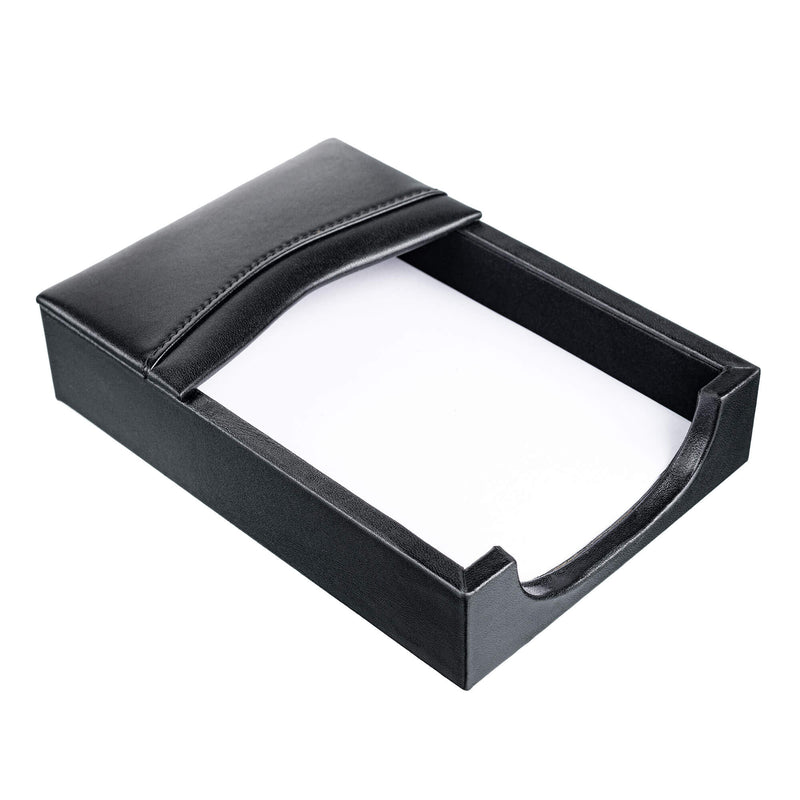 Classic Black Leather 4 x 6 Memo Holder