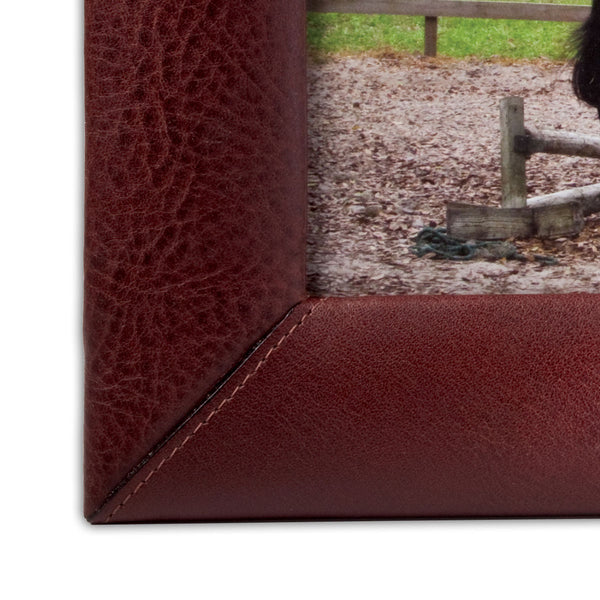 "Mocha Leather 4"" x 6"" Picture Frame"