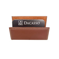 Rustic Brown Leather Business Card Holder