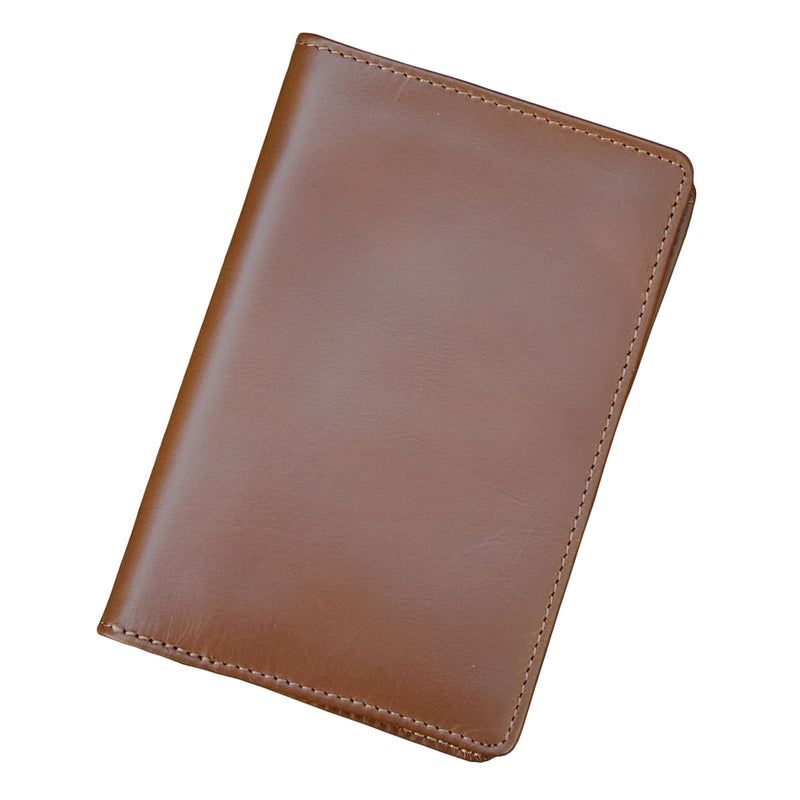 Rustic Brown Leather Passport Holder