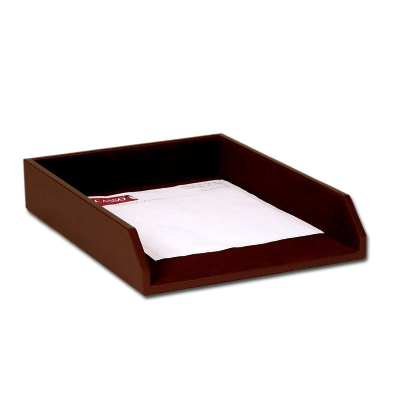 Chocolate Brown Leather Legal-Size Tray