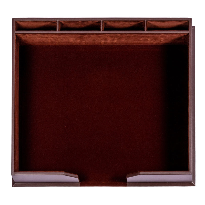 Chocolate Brown Leather Conference Pad Holder