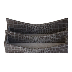 Protacini Castlerock Gray Italian Patent Leather Letter Holder