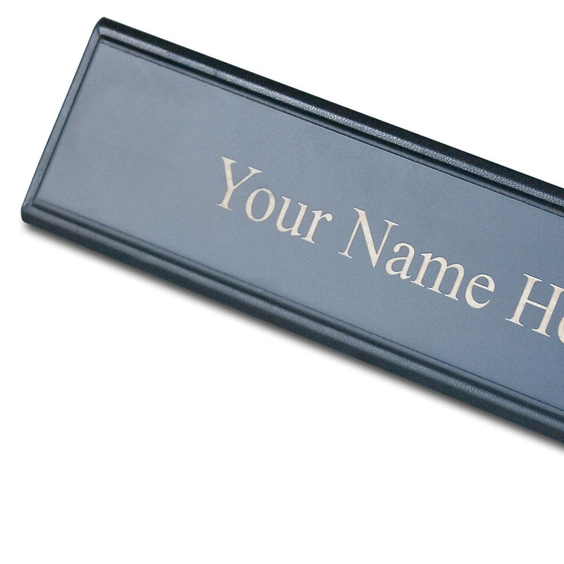 Blackwood and Leather Name Plate