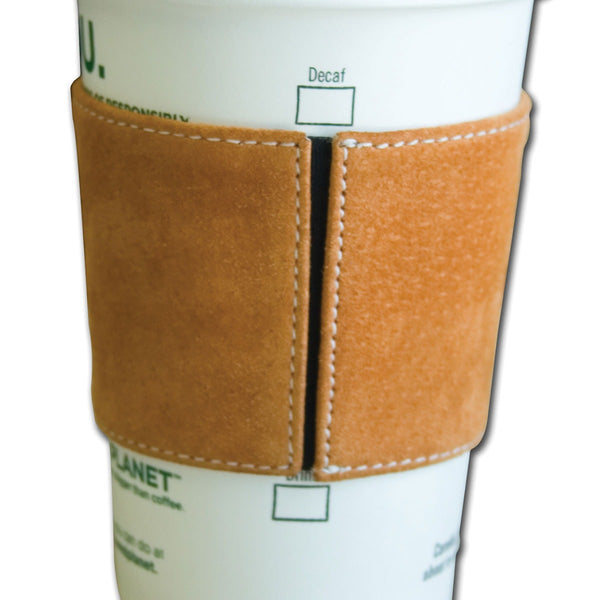 Jasper Brown Suede Leather Coffee Sleeve