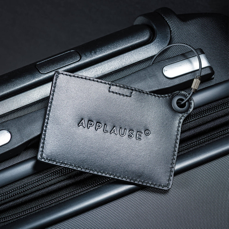 Travelers Envy Luggage Tag with Metal Strap - Black