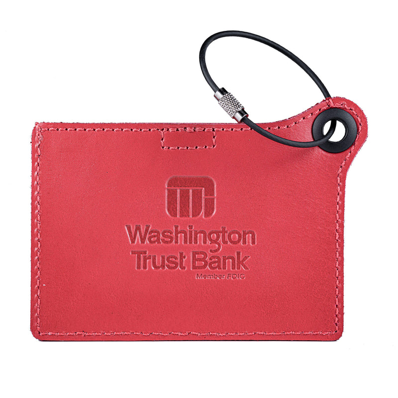 Travelers Envy Luggage Tag with Metal Strap - Red