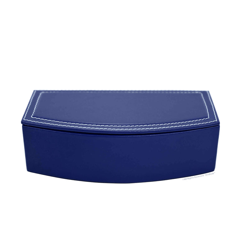 Home/Office Leather 5pc Desk Accessory Set - Navy Blue