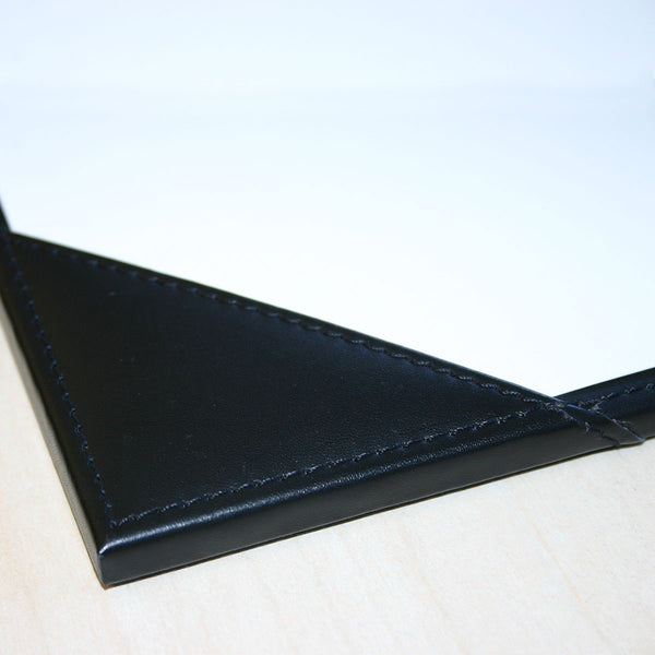 "Black Leather 34"" x 20"" Desk Pad with Blotter Paper"
