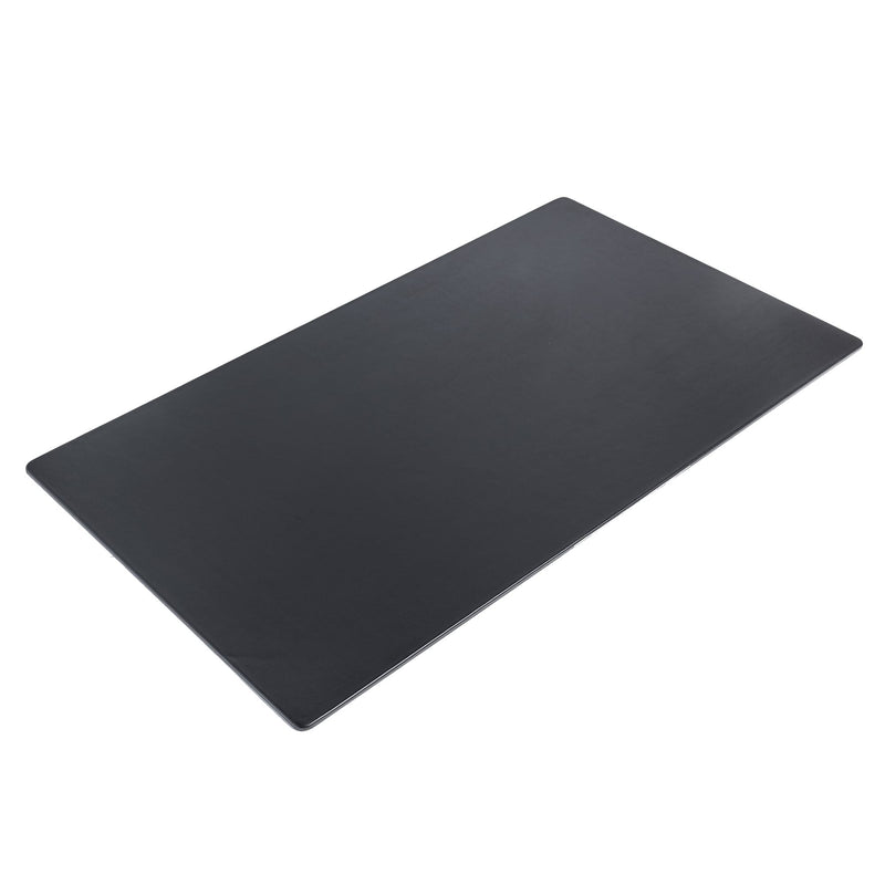 "Black Leather 34"" x 20"" Desk Mat without Rails"
