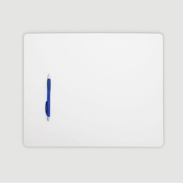 "White Leatherette 17"" x 14"" Conference Table Pad"