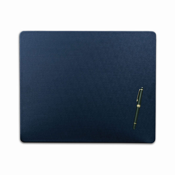 "Navy Blue Leatherette 17"" x 14"" Conference Table Pad"