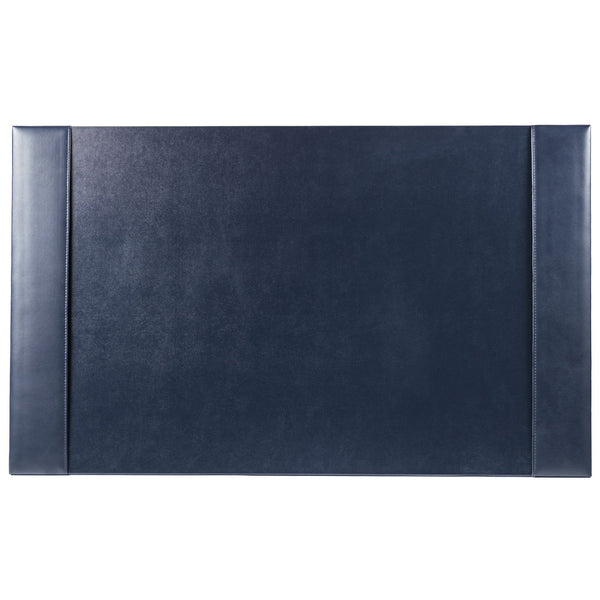 "Navy Blue Bonded Leather 30"" x 18"" Desk Pad"