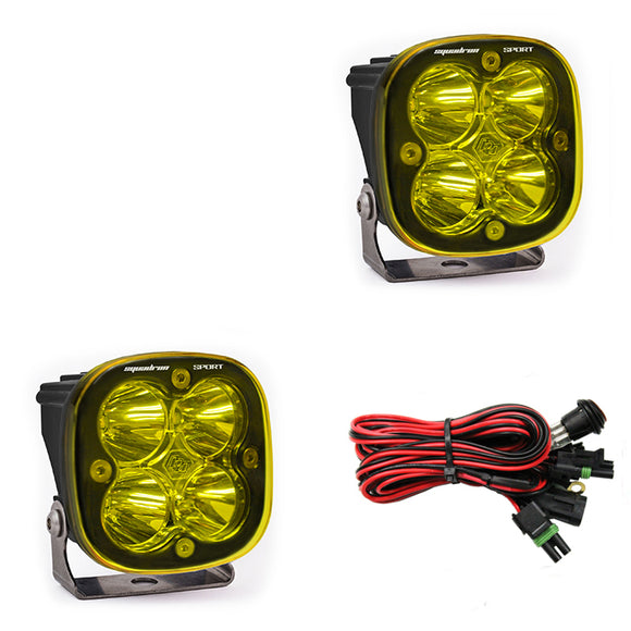 Baja Designs | Squadron Sport, Pair Amber LED Work/Scene