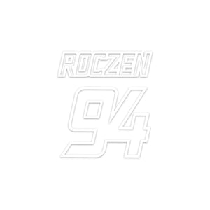 "Ken Roczen KR94 Decal - White (4""x4.5"")"