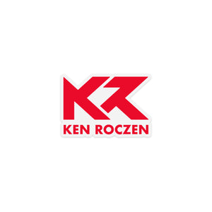 "Ken Roczen KR Logo Sticker - Clear / Red (4""x2.75"")"
