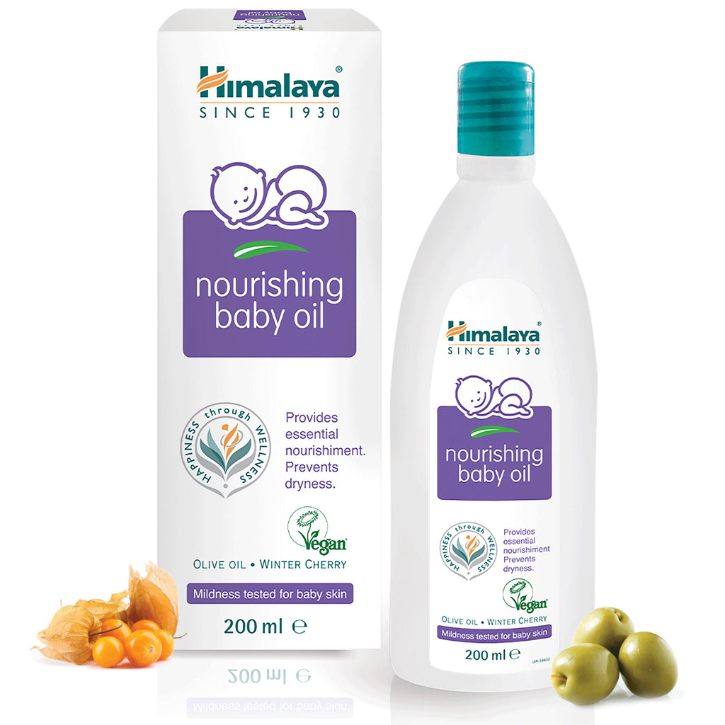 Himalaya Nourishing Baby Oil - Prevents Dryness & Nourishes Skin