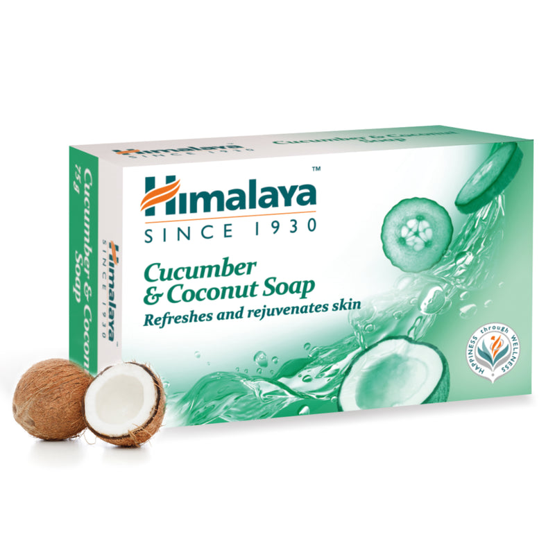 Himalaya Cucumber & Coconut Refreshing Soap - Refreshes & Rejuvenates