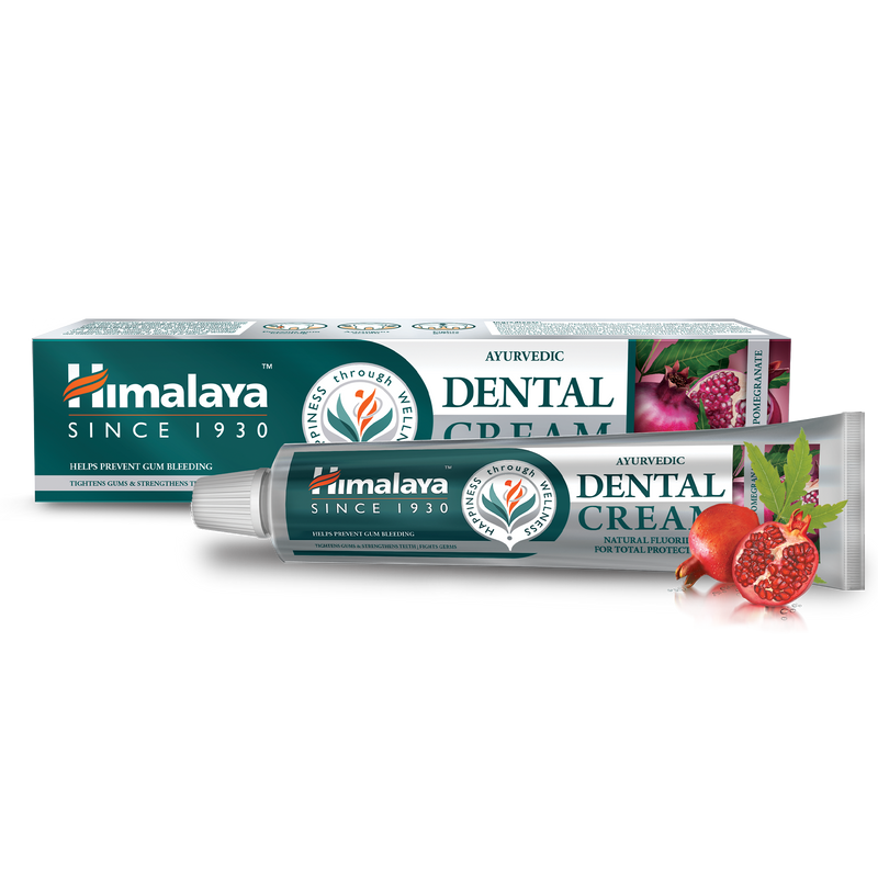 Ayurvedic Dental Cream Herbal Toothpaste - Neem & Pomegranate 100g
