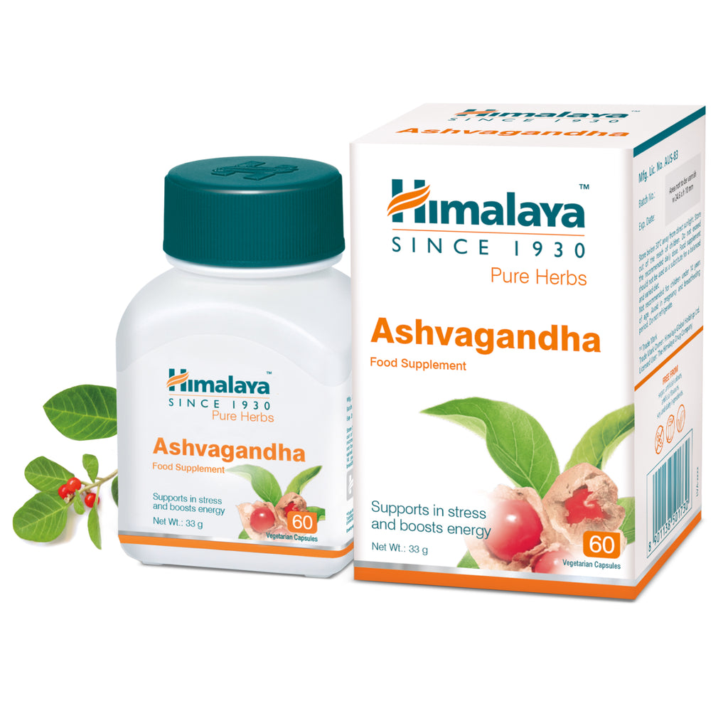 Himalaya Ashvagandha 60 Capsules - Supports in Stress & Boosts Energy