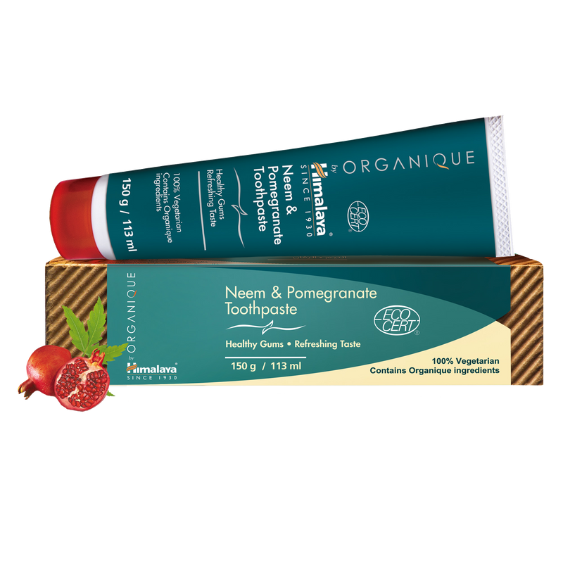 Himalaya ORGANIQUE Neem & Pomegranate Toothpaste - For Healthy Gums
