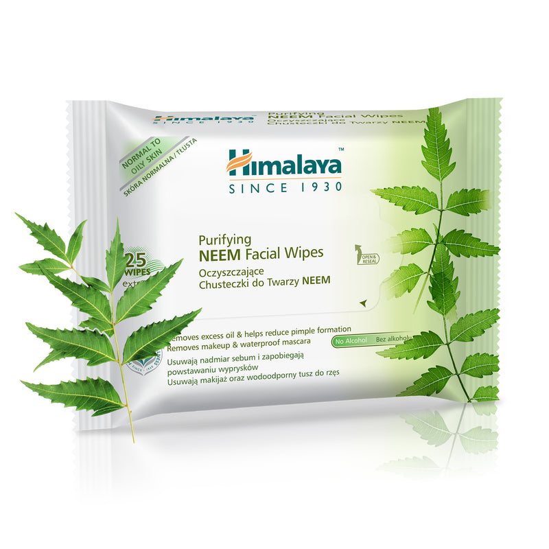 Himalaya Purifying Neem Facial Wipes 25's - Removes Excess Oil and Makeup