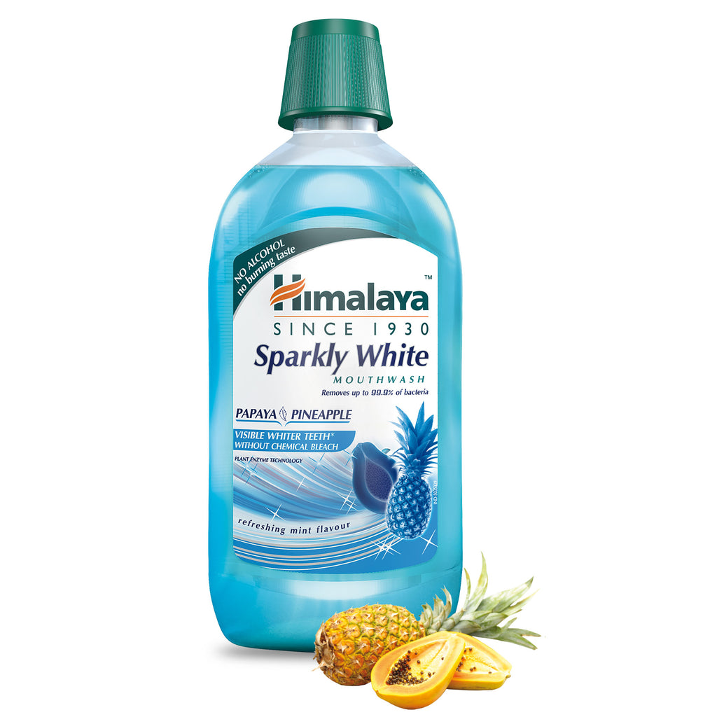 Himalaya Sparkly White Mouthwash - Gently Removes Surface Stains