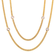 Laden Sie das Bild in den Galerie-Viewer, Collier 90cm Gold 750 mit 10 Brillanten - JUWEL1