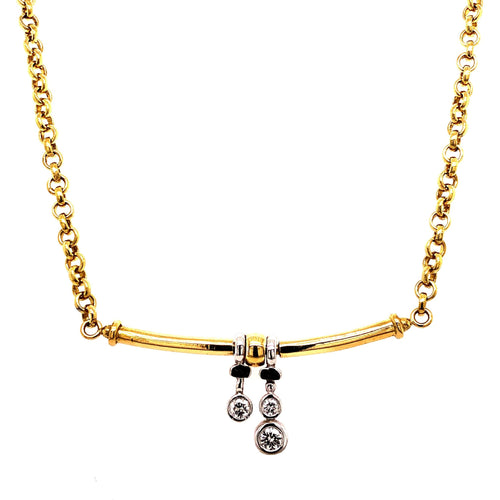 Collier Gold 750 mit 3 Brillanten - JUWEL1