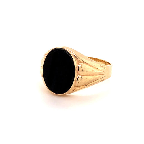 Onyx Ring Gold 585 - JUWEL1
