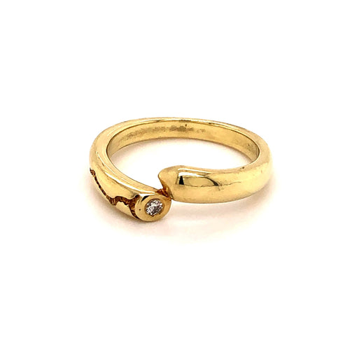 Ring Gold 585 mit 1 Brillant - JUWEL1