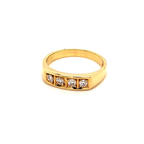Ring Gold 585 mit 4 Brillanten - JUWEL1