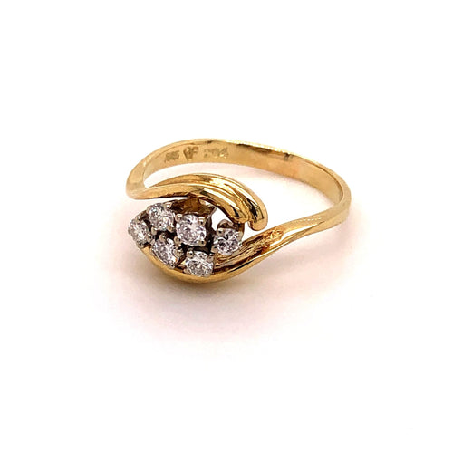 Ring Gold 585 mit 6 Brillanten - JUWEL1
