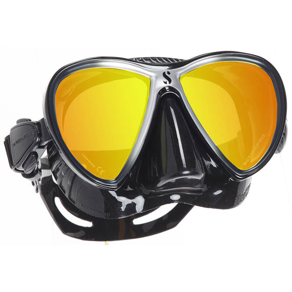 Synergy Twin w/ Mirrored Lens, Silver - All About Scuba