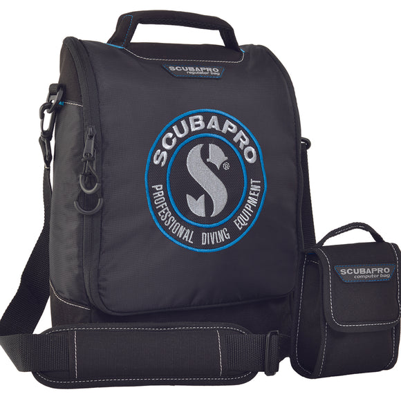 Dive Regulator and Computer Bag, Black - All About Scuba