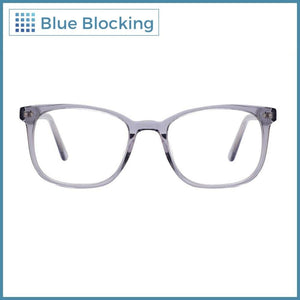 Ford -transparent gray- Blue Blocking - Fitters Eyewear