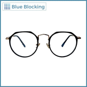 Compra tus lentes Linney -black gold- Blue Blocking en Fitters Eyewear