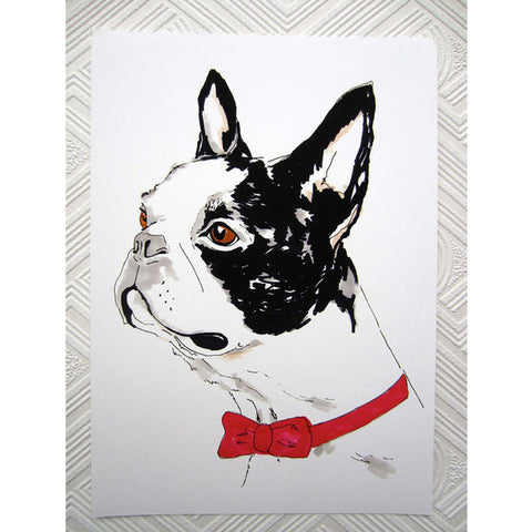 Print - Boris The Boston Terrier