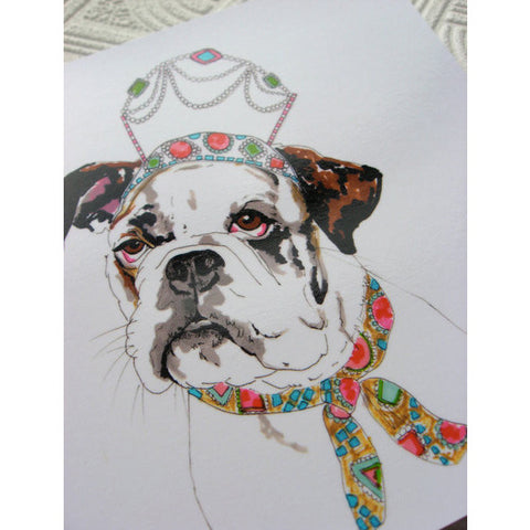 Greeting Card - Queenie The Boxer Dog