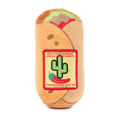 Plush Dog Squeak Toys - Burrito
