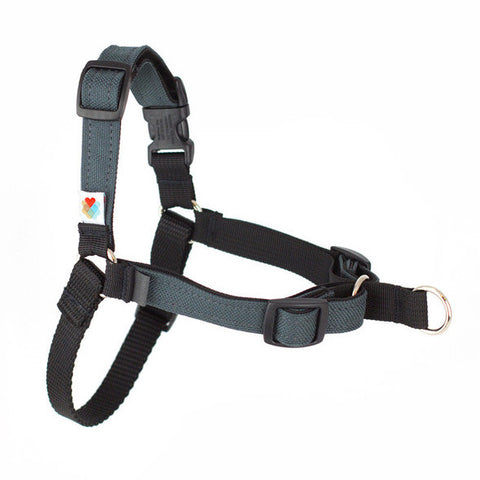 Stop Pulling Front Dog Harness - Charcoal
