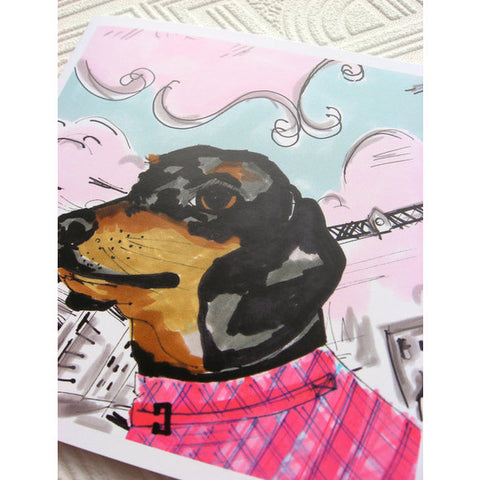 Greeting Card - Sarge The Dachshund