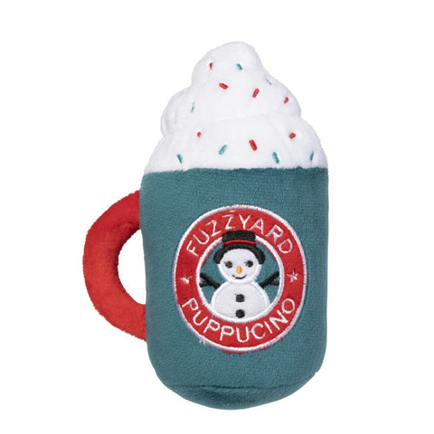 Plush Dog Squeak Toys - Christmas Puppuccino