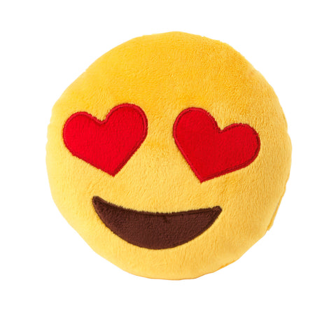 Plush Dog Squeak Toys - Emoji Love Eyes