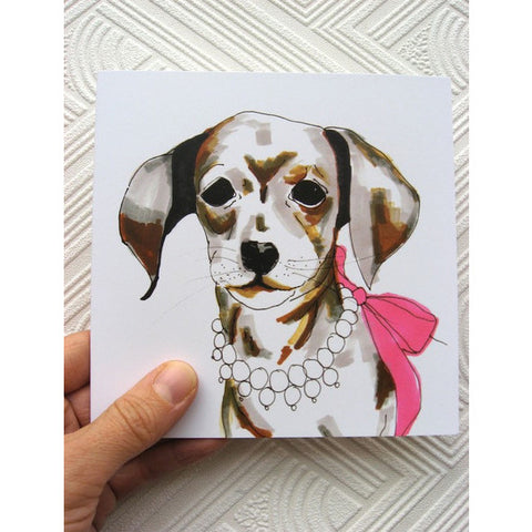Greeting Card - Joan the dachshund