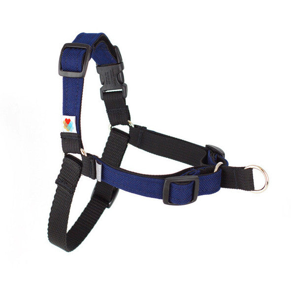 Stop Pulling Front Dog Harness Navy Paws Of Fun