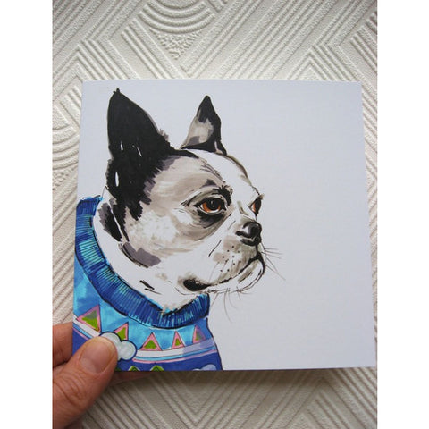 Greeting Card - Nic The Boston Terrier